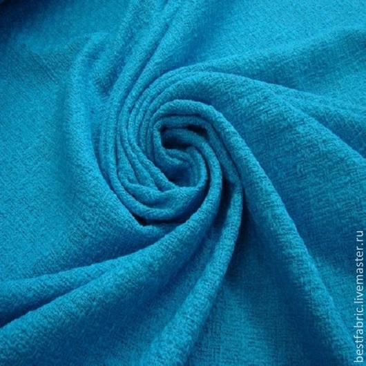 шанель плательно-костюмная , Италия хлопок + вискоза шир. 144 см цена 2250 Р цвет - яркая бирюза мягкая, пластичная, матовая, не тонкая подойдет для летних и весенних нарядов