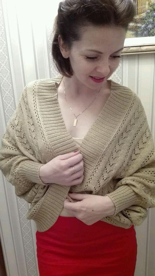 Кофты и свитера ручной работы. Ярмарка Мастеров - ручная работа. Купить Кардиган ажурный. Handmade. Кардиган вязаный, вязание на машине