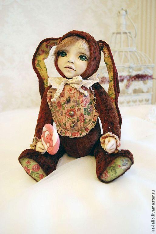 """Мишки Тедди ручной работы. Ярмарка Мастеров - ручная работа. Купить Teddy Doll  """" Матильда"""". Handmade. Бордовый, Паперклей"""