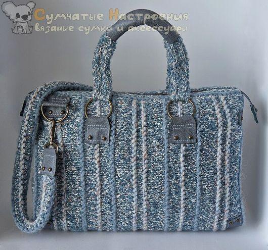 Женские сумки ручной работы. Ярмарка Мастеров - ручная работа. Купить сумка вязаная с кожей BRITISH TWILIGHT элегантная. Handmade.