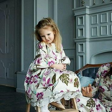 """Работы для детей, ручной работы. Ярмарка Мастеров - ручная работа Детское платье """"Цветочная нежность"""". Handmade."""