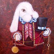 Картины и панно ручной работы. Ярмарка Мастеров - ручная работа Картина Белый кролик. Handmade.