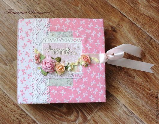 """Фотоальбомы ручной работы. Ярмарка Мастеров - ручная работа. Купить Фотоальбом """"Маленькая принцесса"""". Handmade. Розовый, подарок на день рождения"""