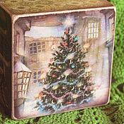 Подарки к праздникам ручной работы. Ярмарка Мастеров - ручная работа Новогодний винтажный кубик 2- кубик для Нового Года. Handmade.