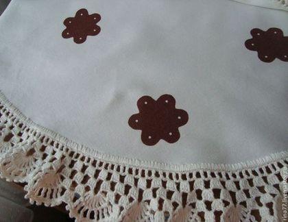 Текстиль, ковры ручной работы. Ярмарка Мастеров - ручная работа Текстильная салфетка с ручным кружевом. Handmade.