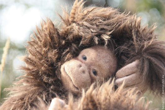 Игрушки животные, ручной работы. Ярмарка Мастеров - ручная работа. Купить Шимпанзе. Игровая обезьянка. Handmade. Коричневый, натуральный мех