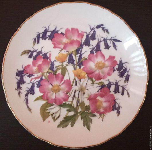 Винтажная посуда. Ярмарка Мастеров - ручная работа. Купить Декоративная тарелка от Royal Albert. Handmade. Белый, фарфоровая тарелка