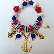 Украшения handmade. Livemaster - original item Set of natural stones in a Maritime style Wind of the Mediterranean.. Handmade.