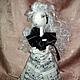 Человечки ручной работы. Ярмарка Мастеров - ручная работа. Купить Текстильная кукла-примадонна Колоратура Сопранова. Handmade. Бежевый
