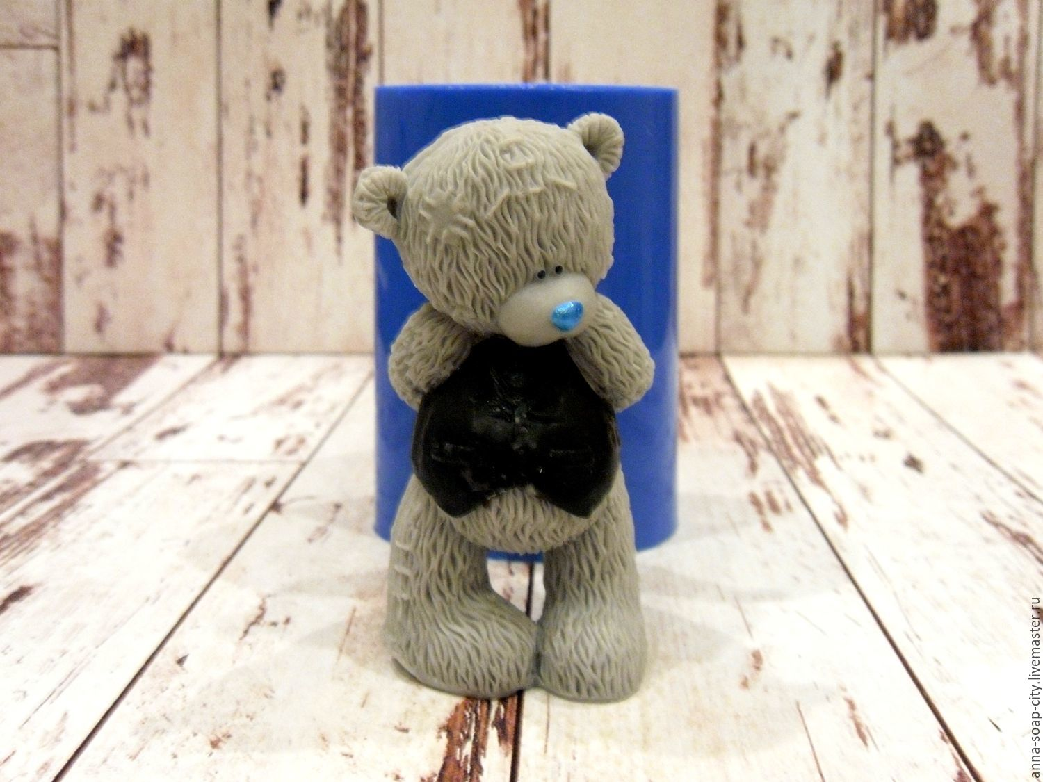 Silicone soap mold ' Teddy Bear-groom', Makeup tools, Arkhangelsk,  Фото №1