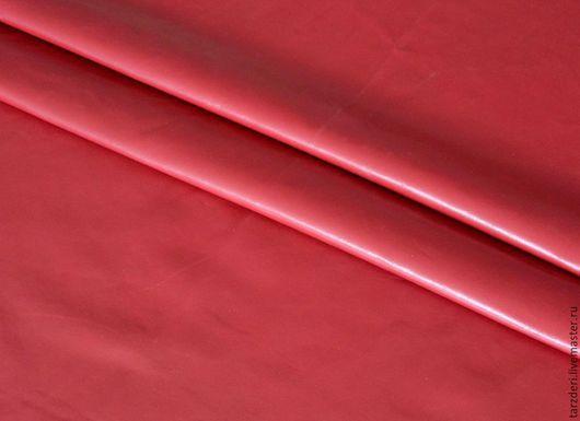 Шитье ручной работы. Ярмарка Мастеров - ручная работа. Купить Бордовая Мягкая натуральная кожа 0,55 мм. Handmade.