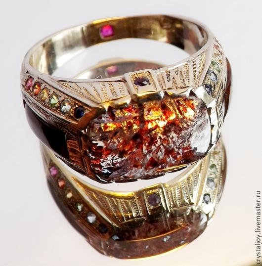 """Кольца ручной работы. Ярмарка Мастеров - ручная работа. Купить """"МЕРЛИН"""". Handmade. Перстень ручной работы, огненный агат"""