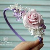 Украшения handmade. Livemaster - original item Hair band with flowers