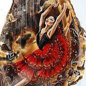 """Украшения ручной работы. Ярмарка Мастеров - ручная работа Колье """"КАРМЕН"""" Лаковая миниатюра. Handmade."""