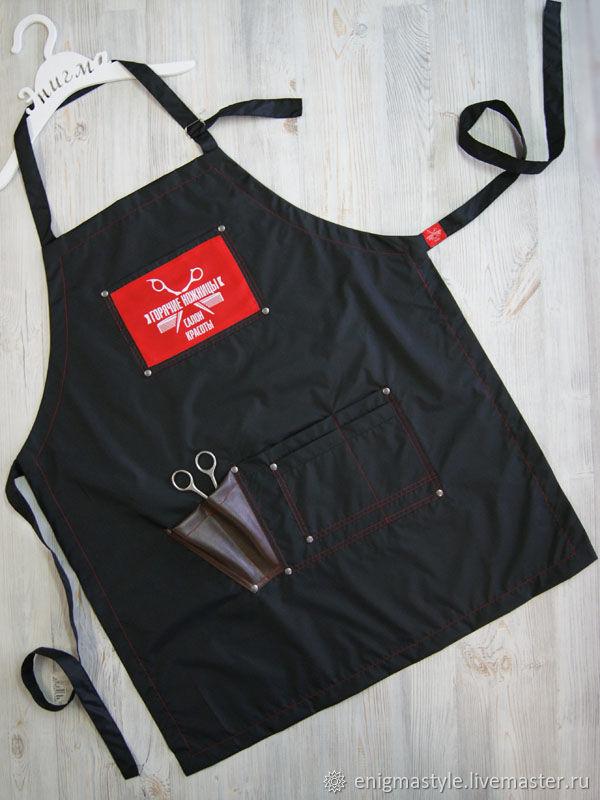 Barber apron, hairdressing apron with custom logo, Aprons, Novosibirsk,  Фото №1