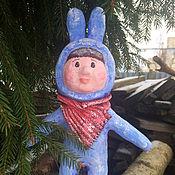 Куклы и игрушки ручной работы. Ярмарка Мастеров - ручная работа Мальчик-зайчик из папье маше. Handmade.