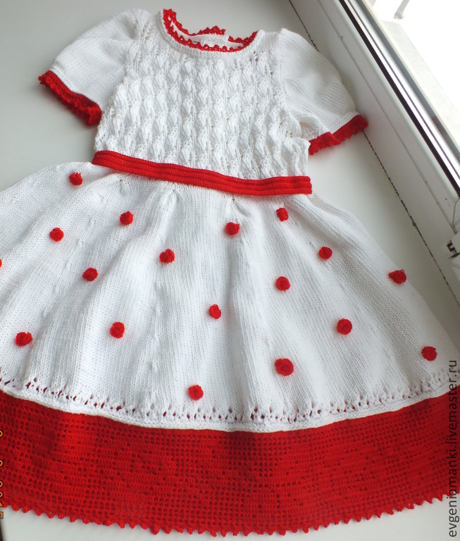 a7320f4e5f2c dress Winter rose knitted children s author – shop online on ...