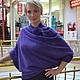 """Кофты и свитера ручной работы. Ярмарка Мастеров - ручная работа. Купить джемпер  """"Фиолетовая фантазия"""". Handmade. Тёмно-фиолетовый, блузон"""