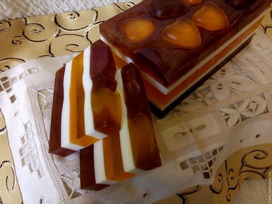 """Мыло ручной работы. Ярмарка Мастеров - ручная работа. Купить Мыло """"медовый торт""""2. Handmade. Комбинированный, мед"""