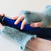 Аксессуары handmade. Livemaster - original item fingerless gloves Turquoise. Handmade.