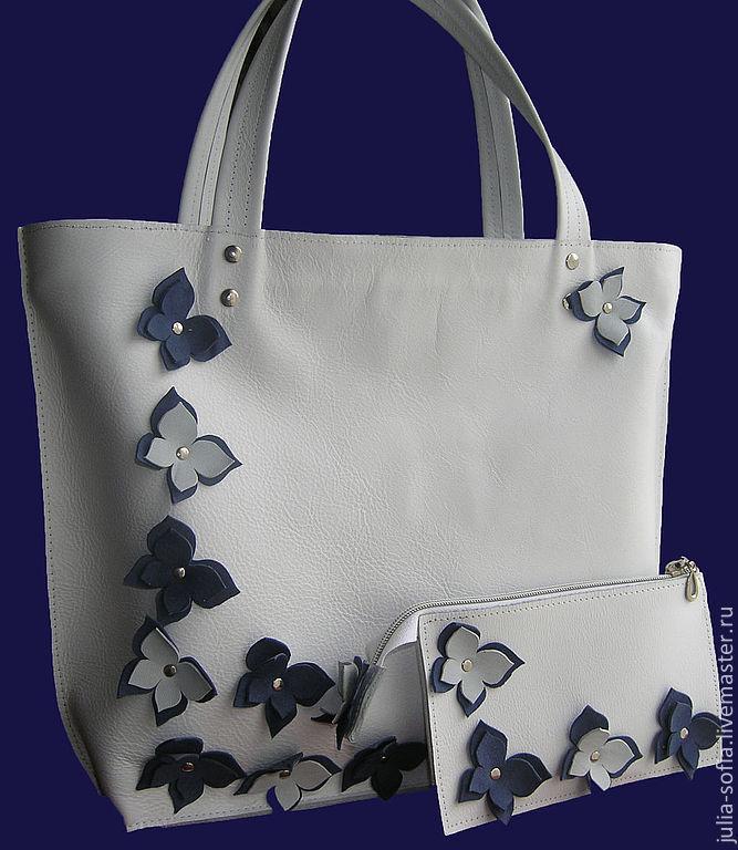 Как украсить кожаную сумку
