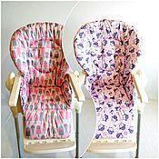 Чехол на стульчик ручной работы. Ярмарка Мастеров - ручная работа Чехол на стульчик для кормления двусторонний. Handmade.