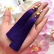 Украшения ручной работы. Ярмарка Мастеров - ручная работа Серьги-кисти  Enigma фиолетовые лиловые черничные пурпурные лиловые. Handmade.