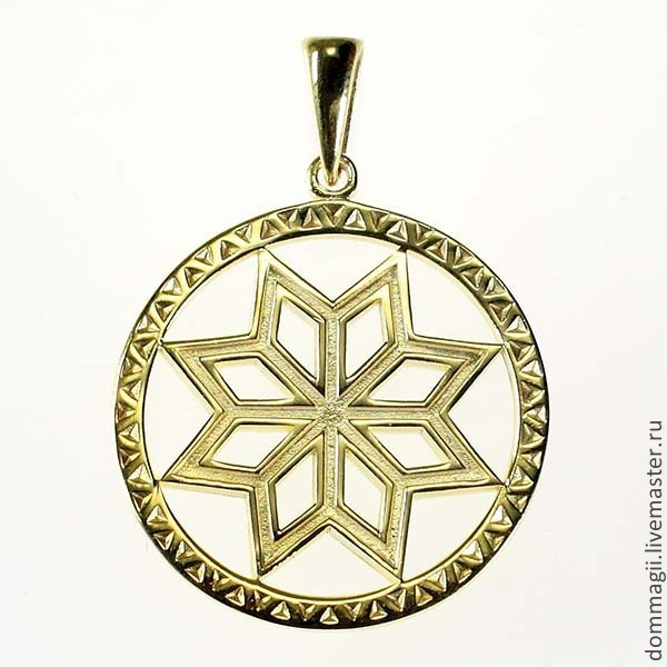 Mythical stone in a circle gold, Amulet, Moscow,  Фото №1