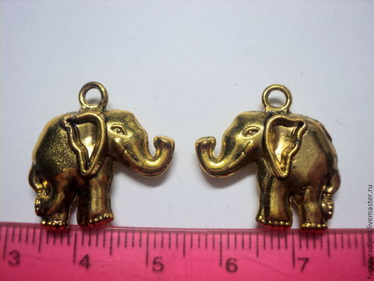 """Для украшений ручной работы. Ярмарка Мастеров - ручная работа. Купить Подвеска """"Слон"""" золото.. Handmade. Подвеска, подвески для бижутерии"""