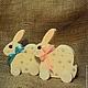 Заяц(Кролик)-каталка декорированый (маленький). Игрушки. Мастерская СерыйЁжа (serijezha). Интернет-магазин Ярмарка Мастеров. Фото №2