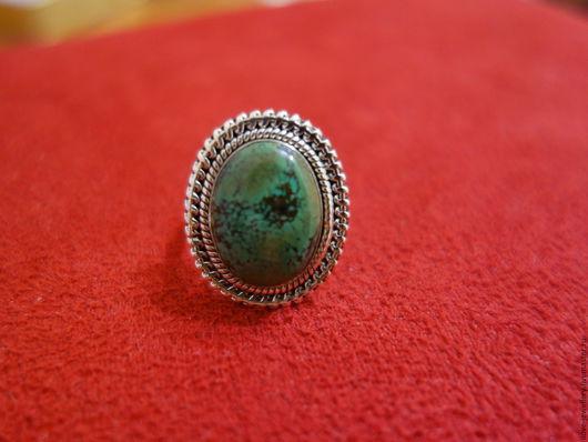 """Кольца ручной работы. Ярмарка Мастеров - ручная работа. Купить """"Норбу""""-серебряное кольцо под старину с тибетской бирюзой. Handmade."""