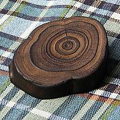 Материалы для творчества ручной работы. Ярмарка Мастеров - ручная работа Пуговицы деревянные большие на ножке из ствола пихты обожжённые. Handmade.