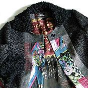 Одежда handmade. Livemaster - original item Jacket with Astrakhan fur, and patchwork elements. Handmade.