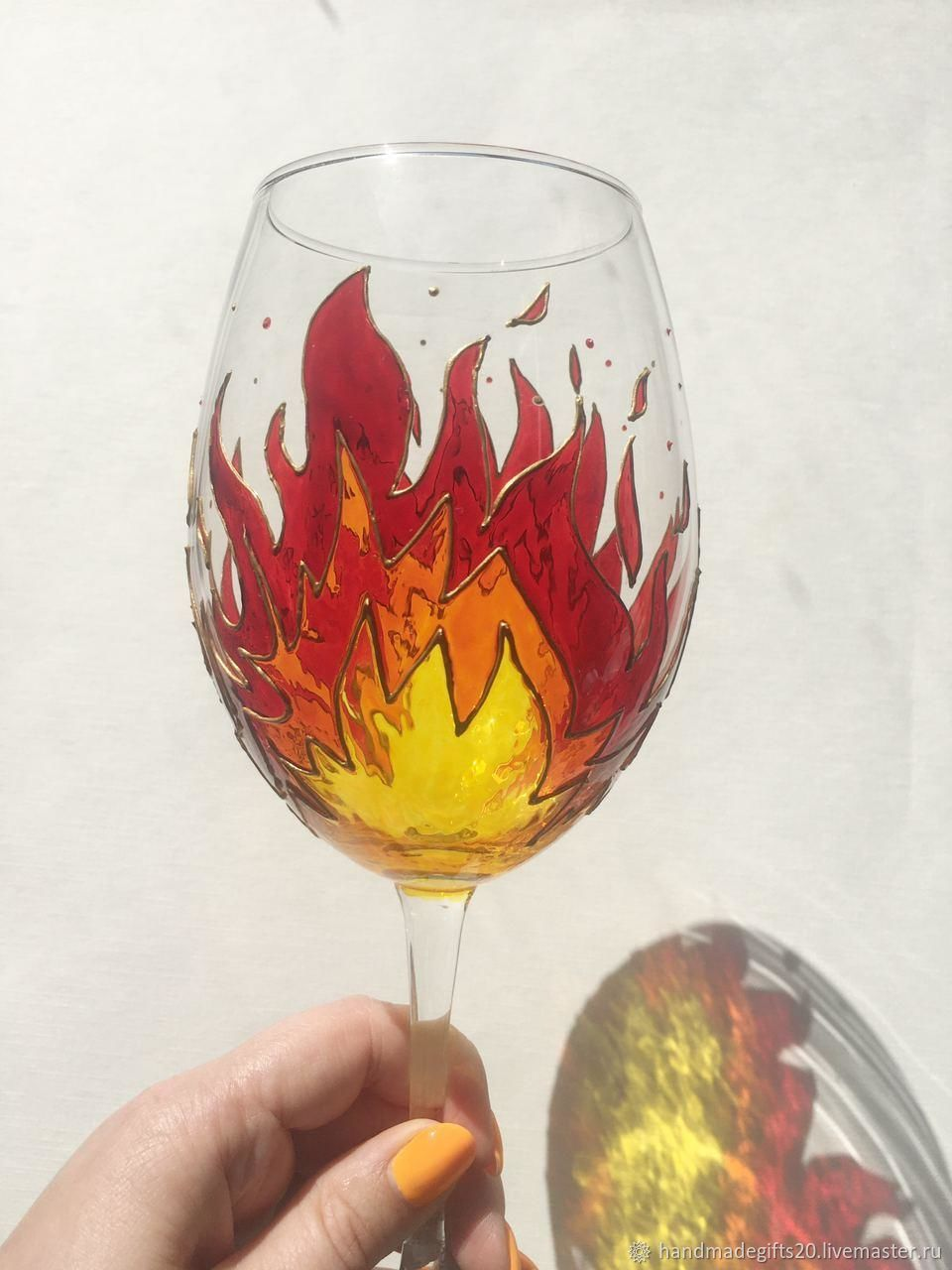 Glasses painted, Wine Glasses, Moscow,  Фото №1