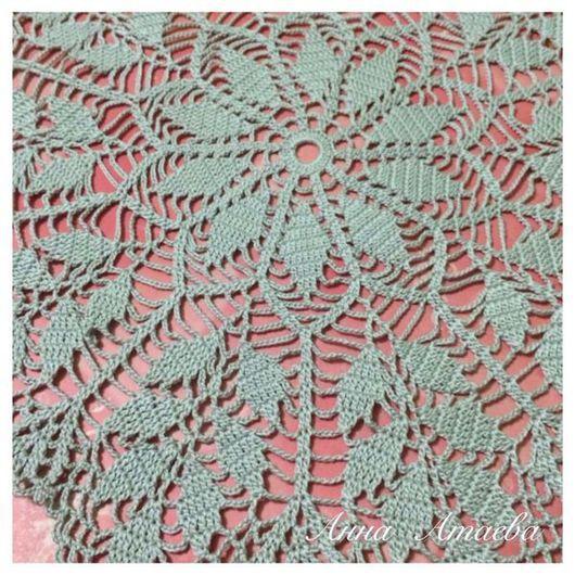 """Текстиль, ковры ручной работы. Ярмарка Мастеров - ручная работа. Купить Салфетка """"Листья"""" в серых тонах (N8/15). Handmade. Салфетка"""