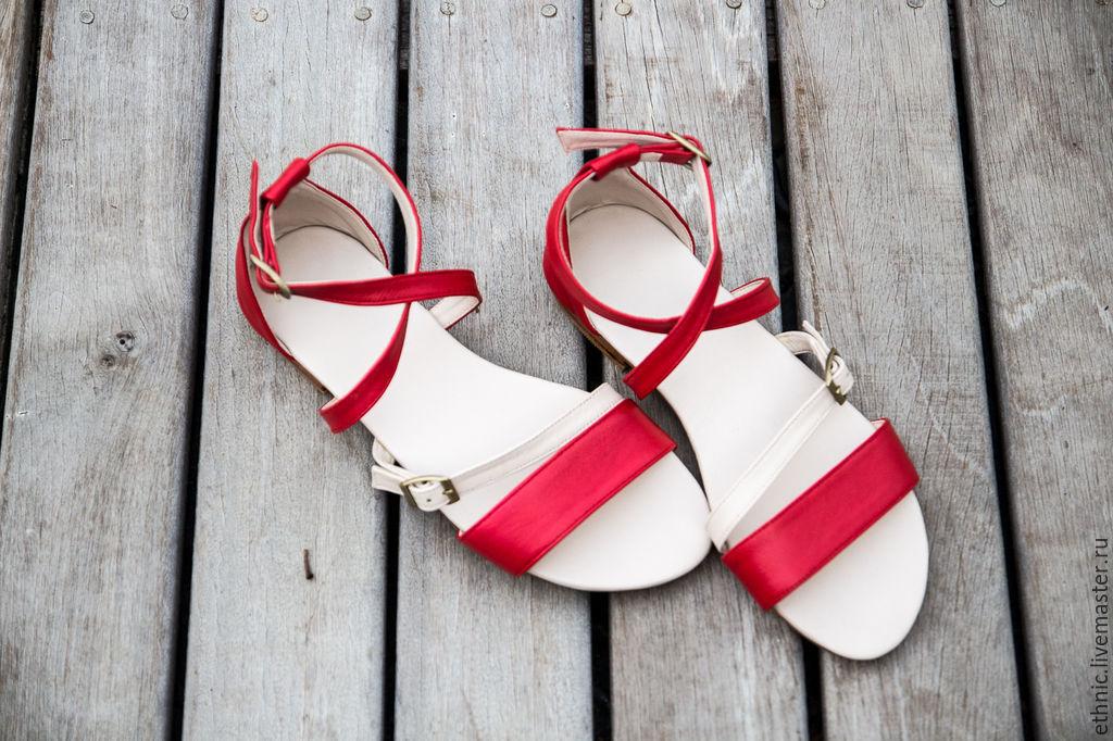 a1993d5b8 Обувь ручной работы. Ярмарка Мастеров - ручная работа. Купить Женские  кожаные сандалии Nicole.