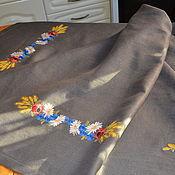 Для дома и интерьера handmade. Livemaster - original item Table cloth with embroidery linen