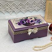 Для дома и интерьера handmade. Livemaster - original item Box in lilac colors flowers. Handmade.