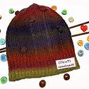 Аксессуары handmade. Livemaster - original item Warm knitted hat (beanie). Handmade.