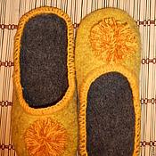 """Обувь ручной работы. Ярмарка Мастеров - ручная работа Тапки- шлепки """"Одуванчик"""". Handmade."""