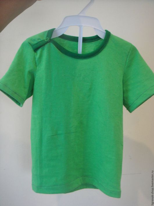 Одежда для мальчиков, ручной работы. Ярмарка Мастеров - ручная работа. Купить Футболка с коротким рукавом. Handmade. Зеленый, футболка, для девочки