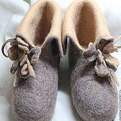 """Обувь ручной работы. Ярмарка Мастеров - ручная работа Тапки-валенки """"Тишина"""". Handmade."""