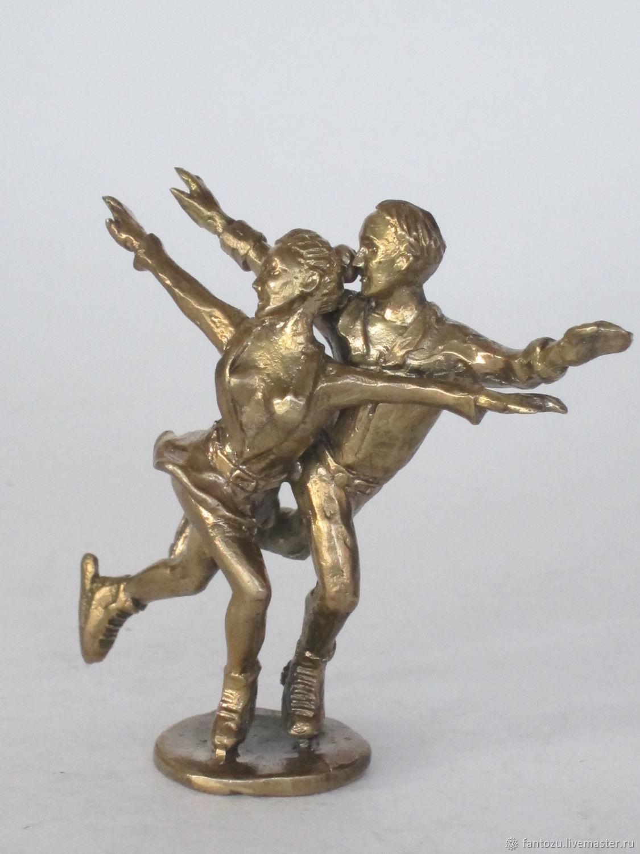 Brass figurine Skaters, Figurines, Yaroslavl,  Фото №1