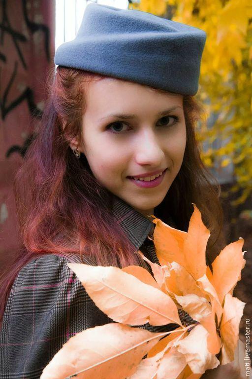 """Шляпы ручной работы. Ярмарка Мастеров - ручная работа. Купить шляпка """"Ракушка"""". Handmade. Серый, велюр"""