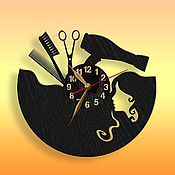 Для дома и интерьера ручной работы. Ярмарка Мастеров - ручная работа Часы из акрилового стекла Парикмахер. Handmade.