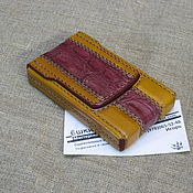 Сувениры и подарки handmade. Livemaster - original item Cigarette case. sigaretta. Inserting a crocodile. Slims.  Thin cigarettes.. Handmade.