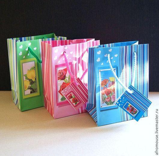 Небольшие пакетики для подарков 11 х 14 х 6 см
