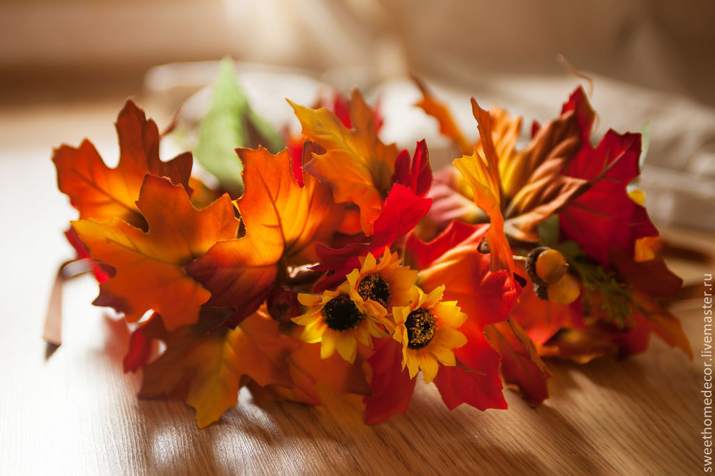 Осенний ободок на голову