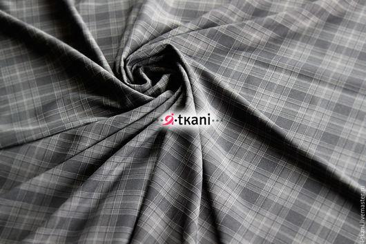 К-018 Клетка костюмная. Цвет `Серый`  10%вискоза, 88% п/э, 2%эластан. Ширина 140см. Тайвань.  Цена: 460руб за 1м.