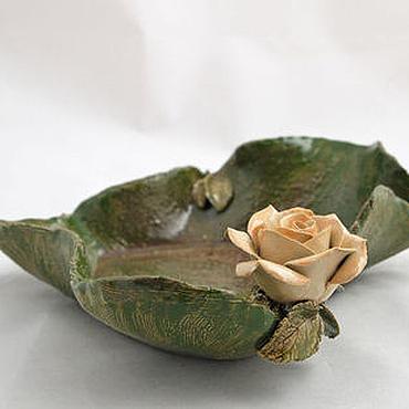 Посуда ручной работы. Ярмарка Мастеров - ручная работа Пиала Роза и сердце. Handmade.